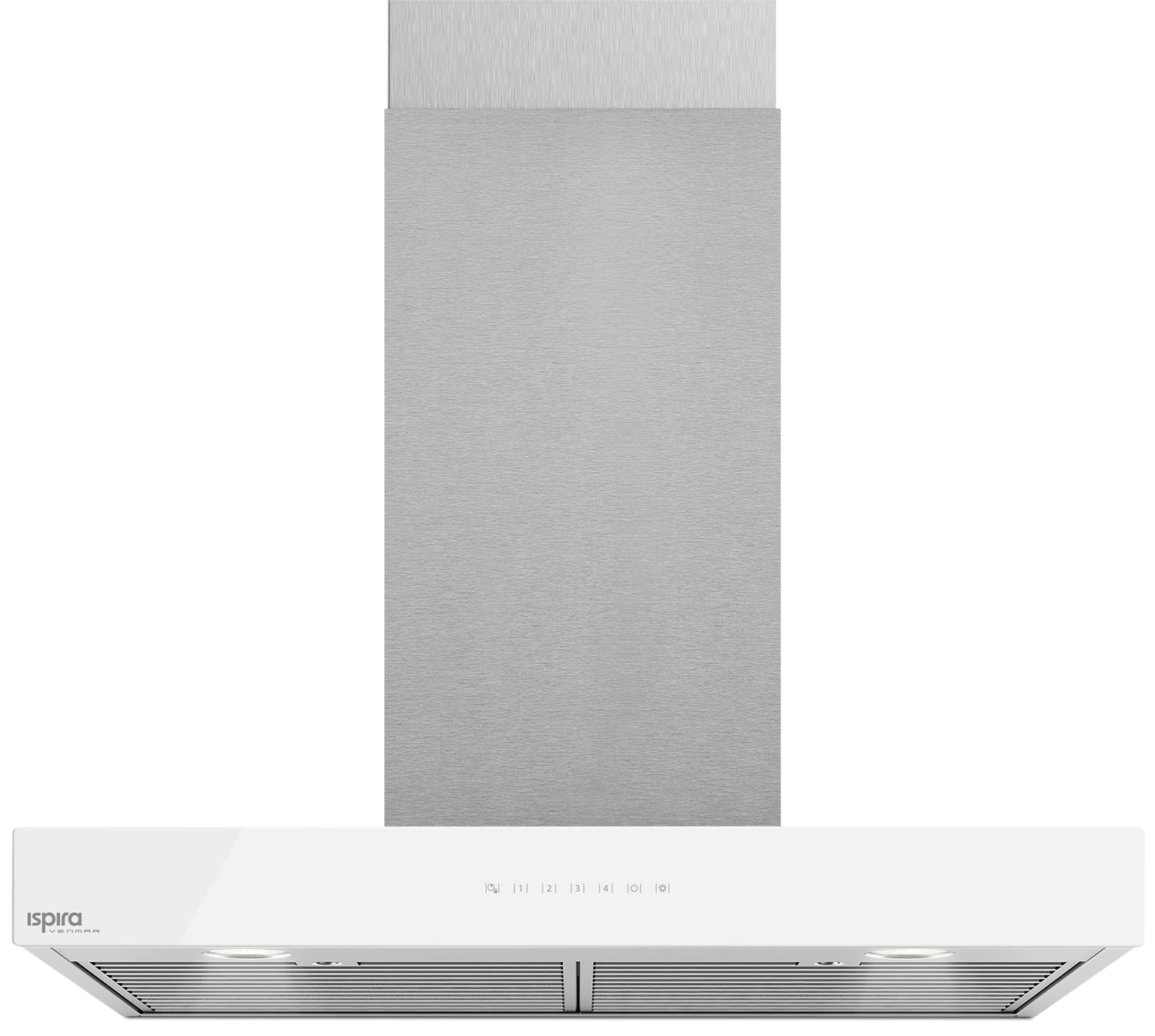 "Cooking Products - Venmar Ispira 30"" Chimney Range Hood – White Panel IC700ES30WH"