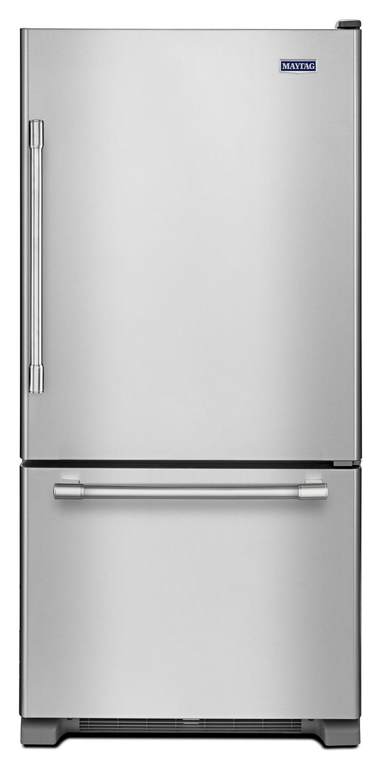 Refrigerators and Freezers - Maytag Fingerprint-Resistant Stainless Steel Bottom-Freezer Refrigerator (18.6 Cu. Ft.) - MBR1957FEZ