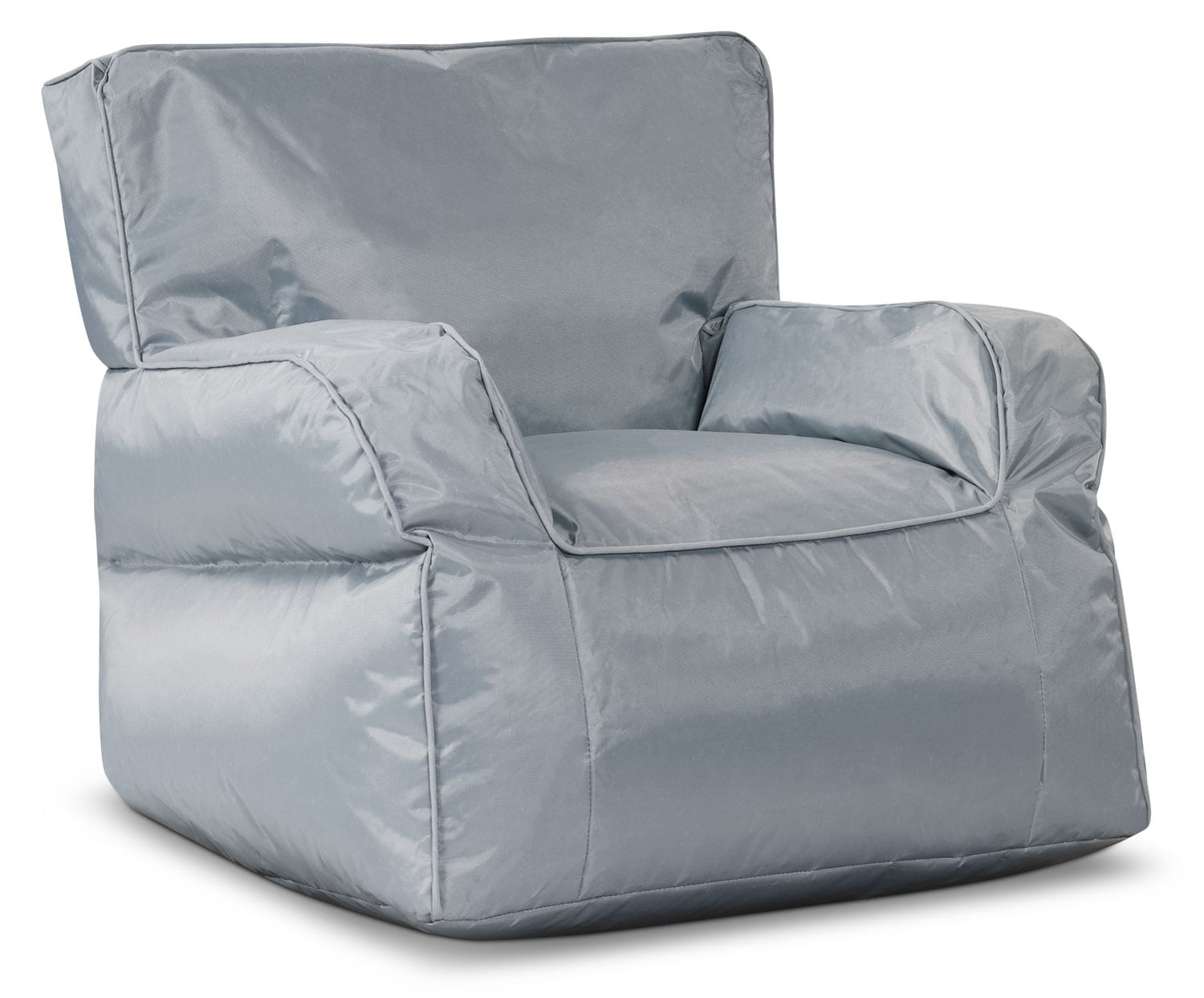 Living Room Furniture - Bean Bag Chair with Arms – Grey