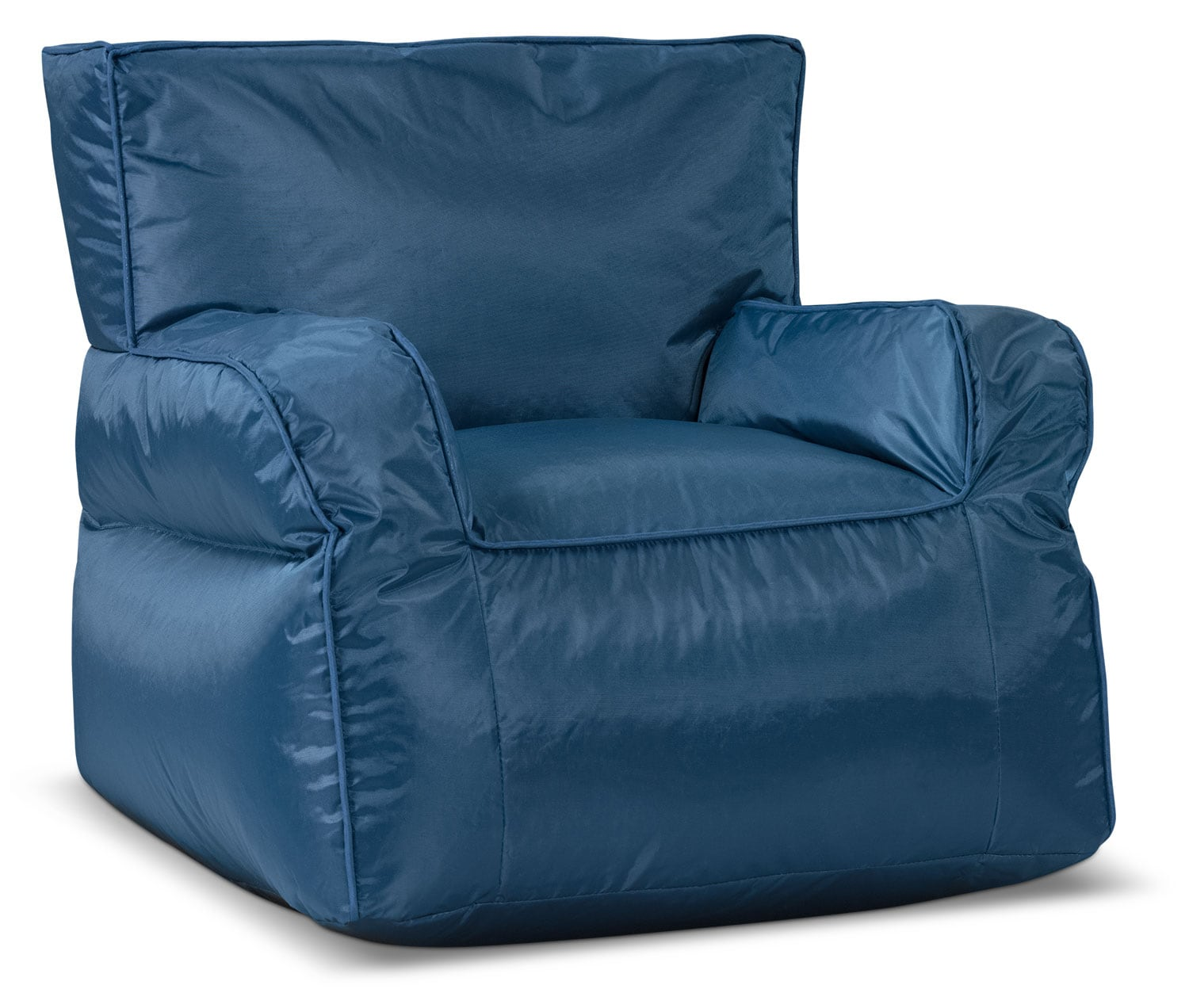 Living Room Furniture - Bean Bag Chair with Arms – Blue