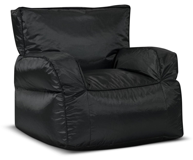 Bean Bag Chair with Arms – Black