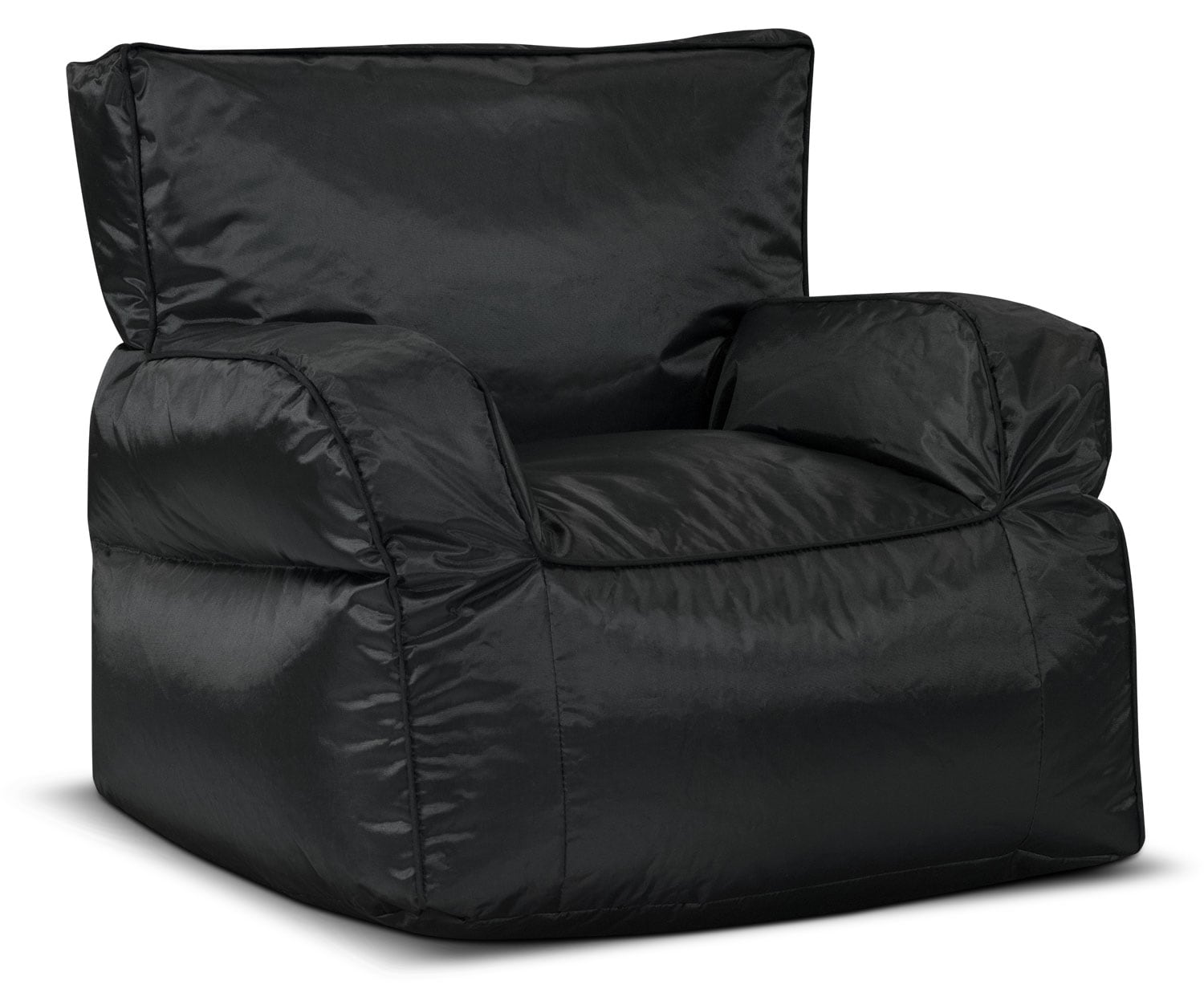 Living Room Furniture - Bean Bag Chair with Arms – Black