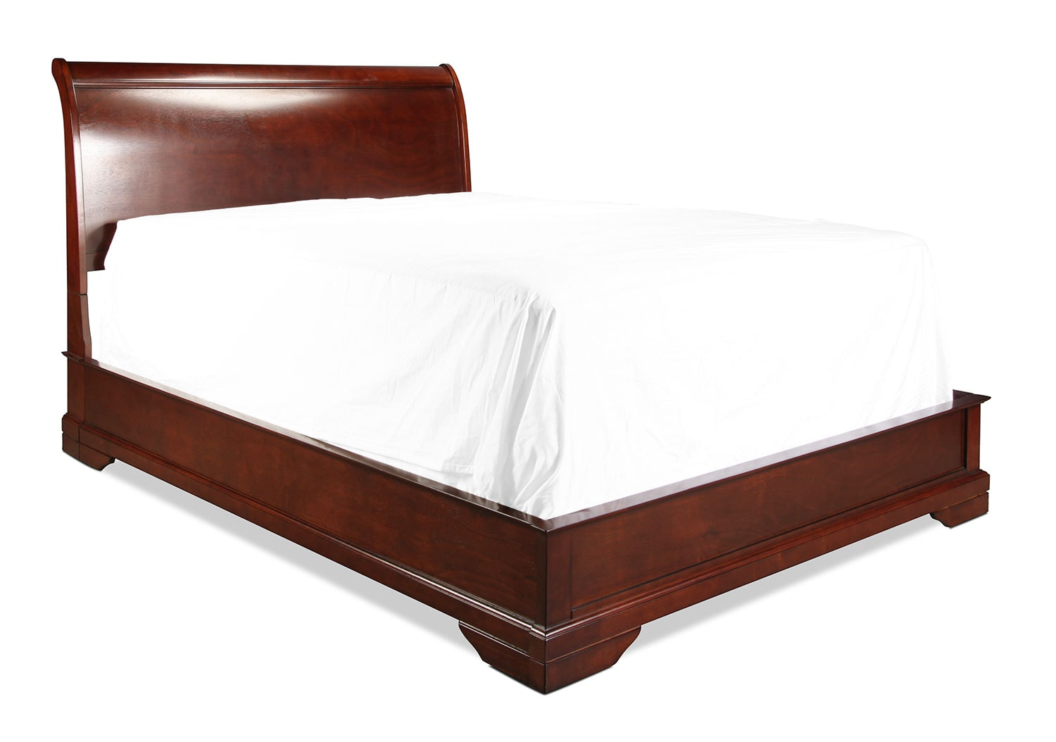 Bedroom Furniture - Claire King Bed - Brown Cherry