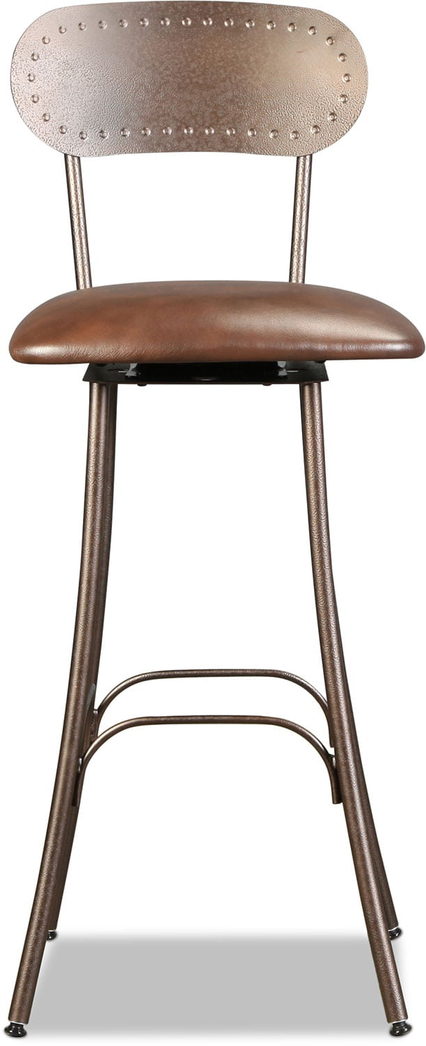 Bean Swivel Upholstered Barstool