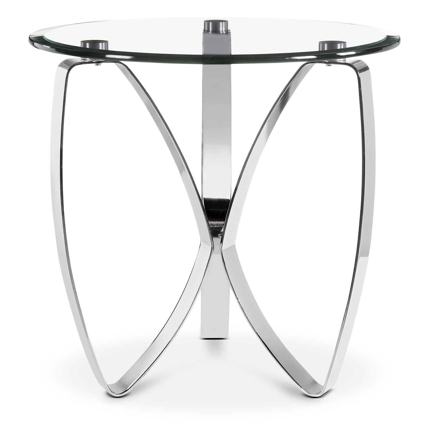Nico End Table - Chrome