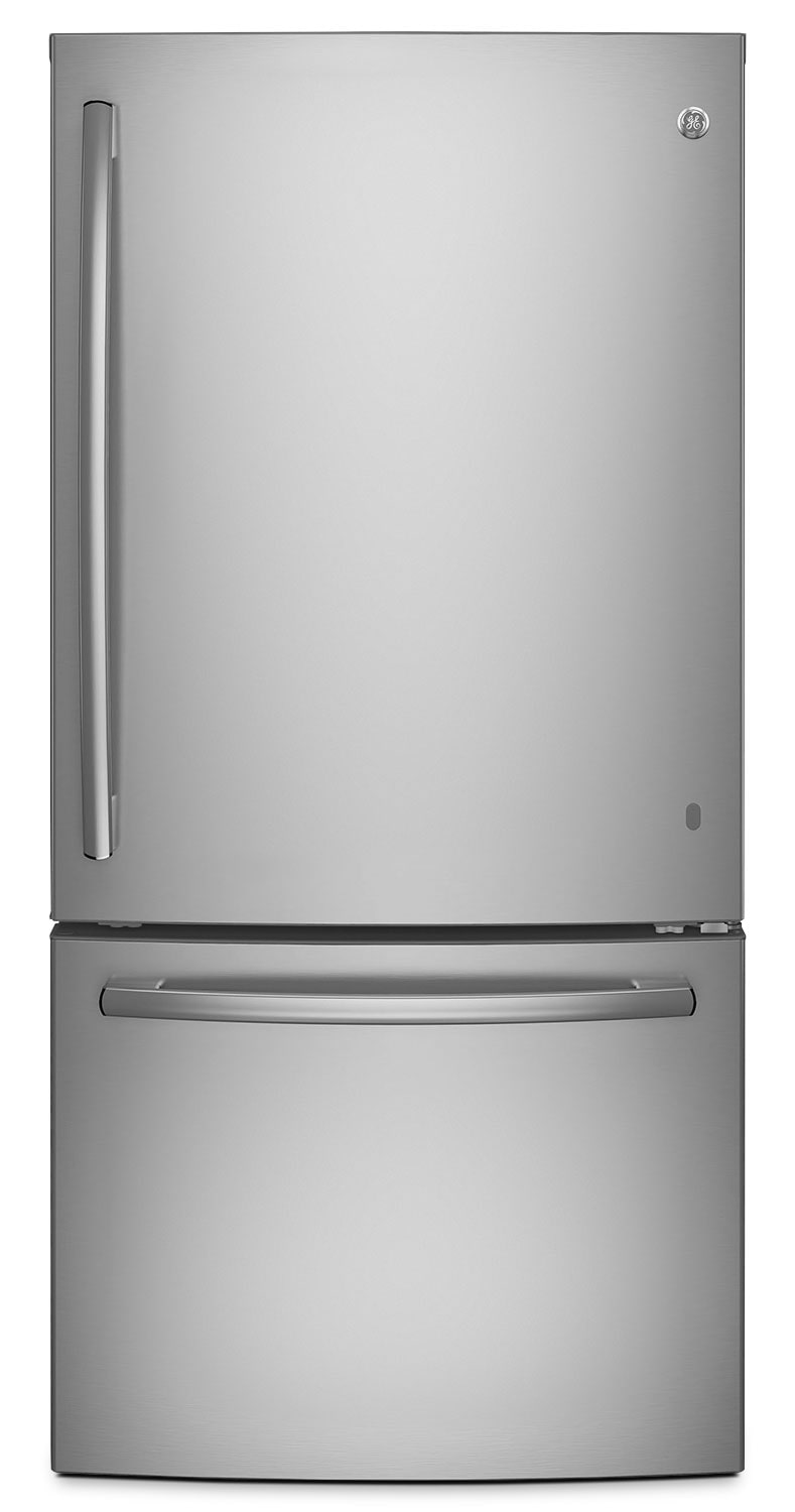 GE 24.9 Cu. Ft. Bottom-Mount Refrigerator – GDE25ESKSS