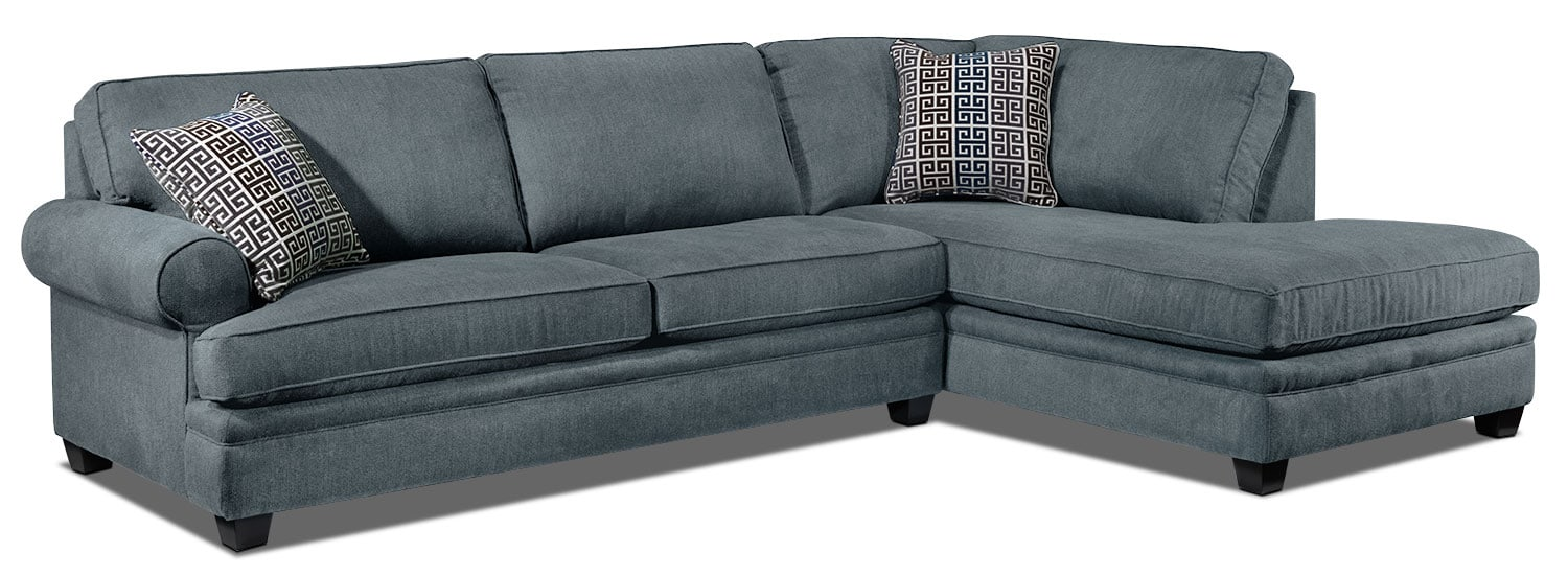 Tammy 2-Piece Sectional - Sky