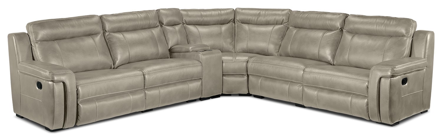 Living Room Furniture - Bolero 6-Piece Reclining Sectional - Pewter