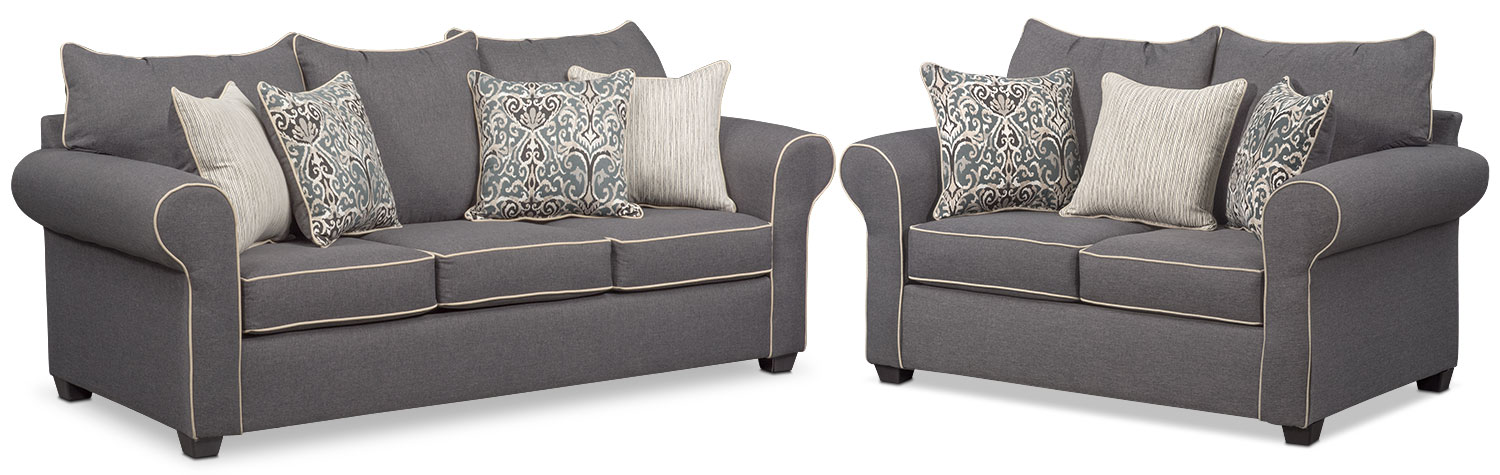 Carla Sofa Gray Value City Furniture