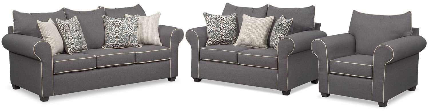 Carla Sofa Gray American Signature Furniture