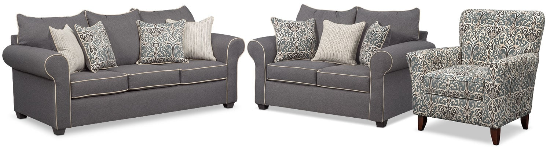 Carla Sofa Gray American Signature Furniture