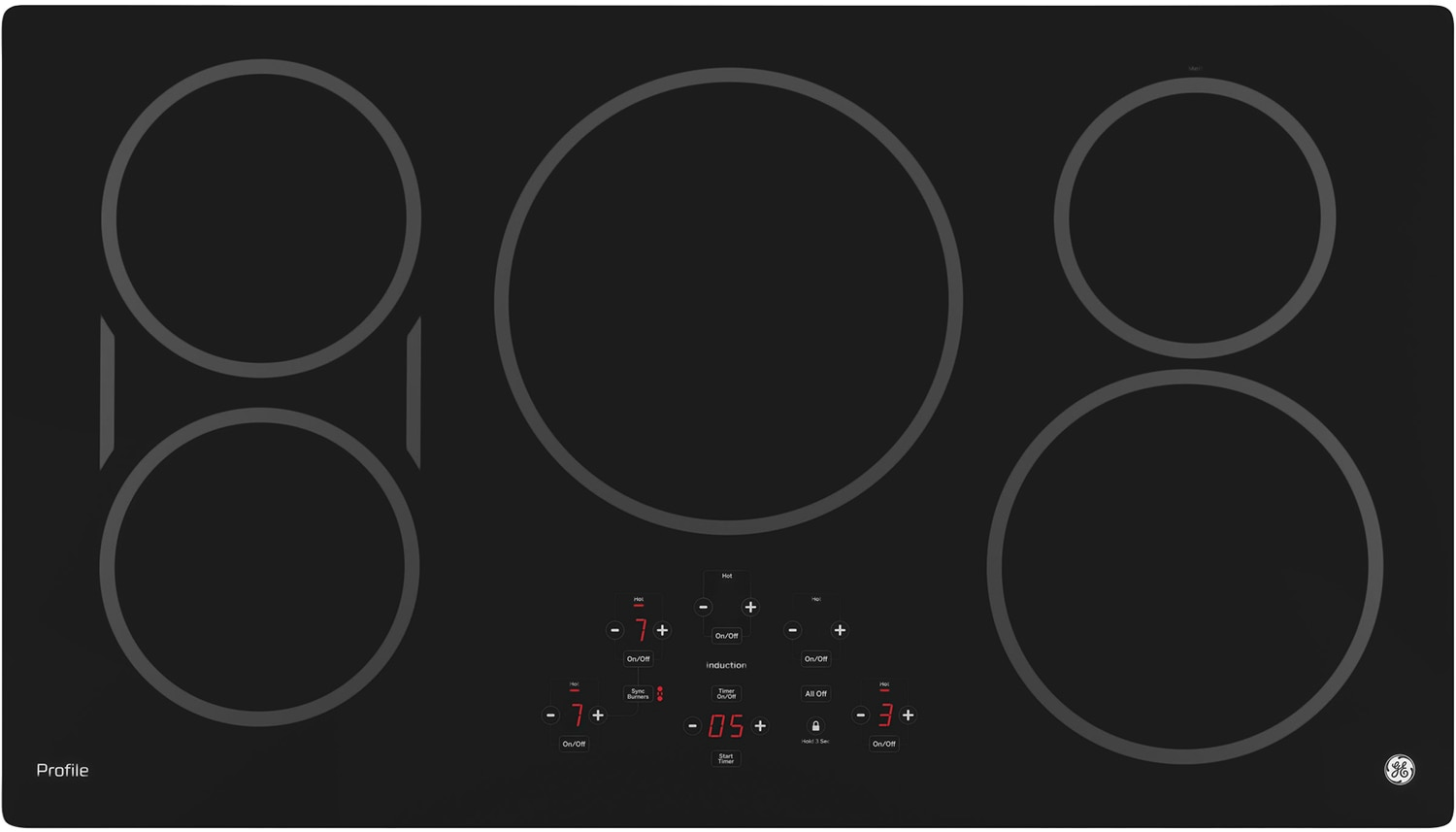"Cooking Products - GE Profile 36"" Electric Induction Cooktop – PHP9036DJBB"