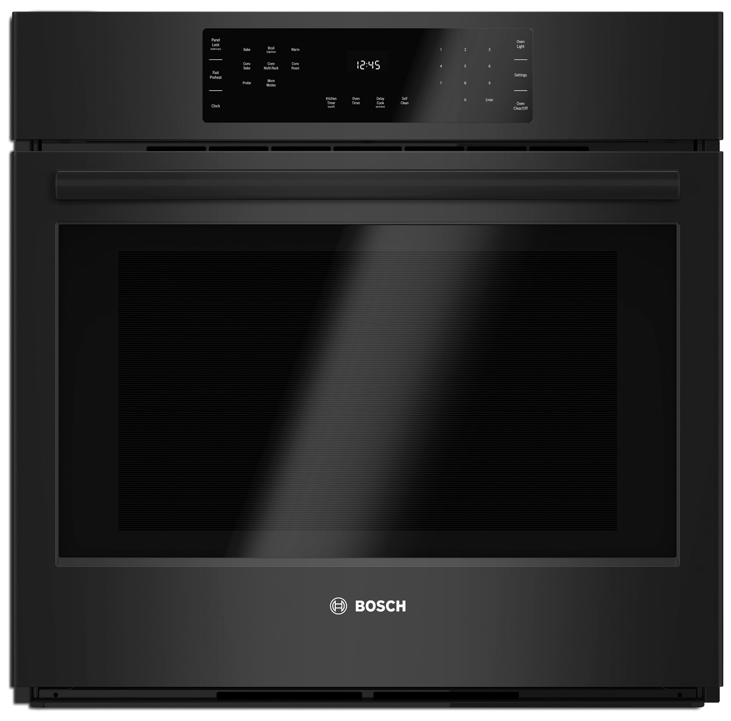 bosch 800 series 4 6 cu ft single wall oven hbl8461uc the brick. Black Bedroom Furniture Sets. Home Design Ideas