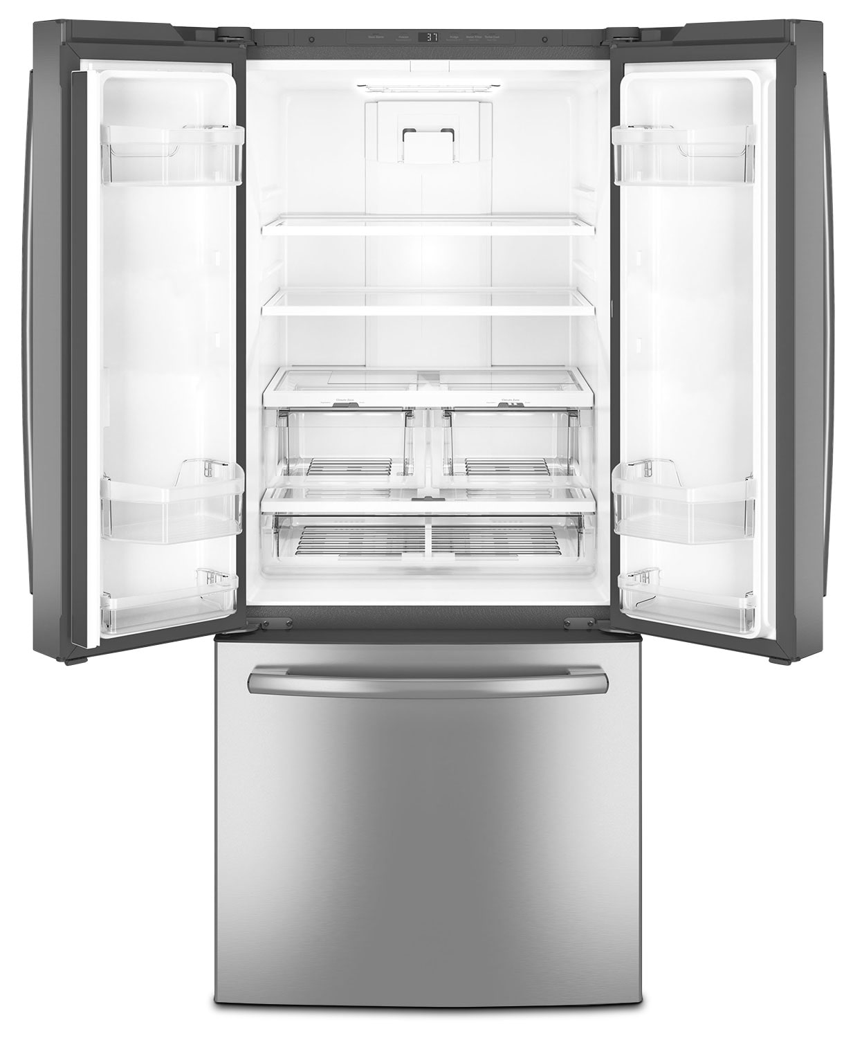 20 Cu Ft French Door Refrigerator: GE 20.8 Cu. Ft. French-Door Refrigerator – GNE21DSKSS