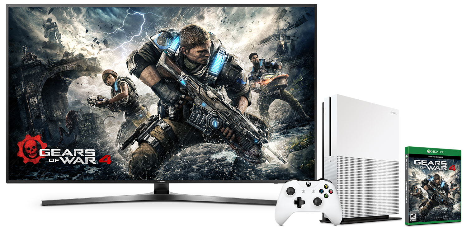 """Samsung 55"""" KU7000 Active UHD LED Smart Television with Xbox One S Gears of War Bundle"""