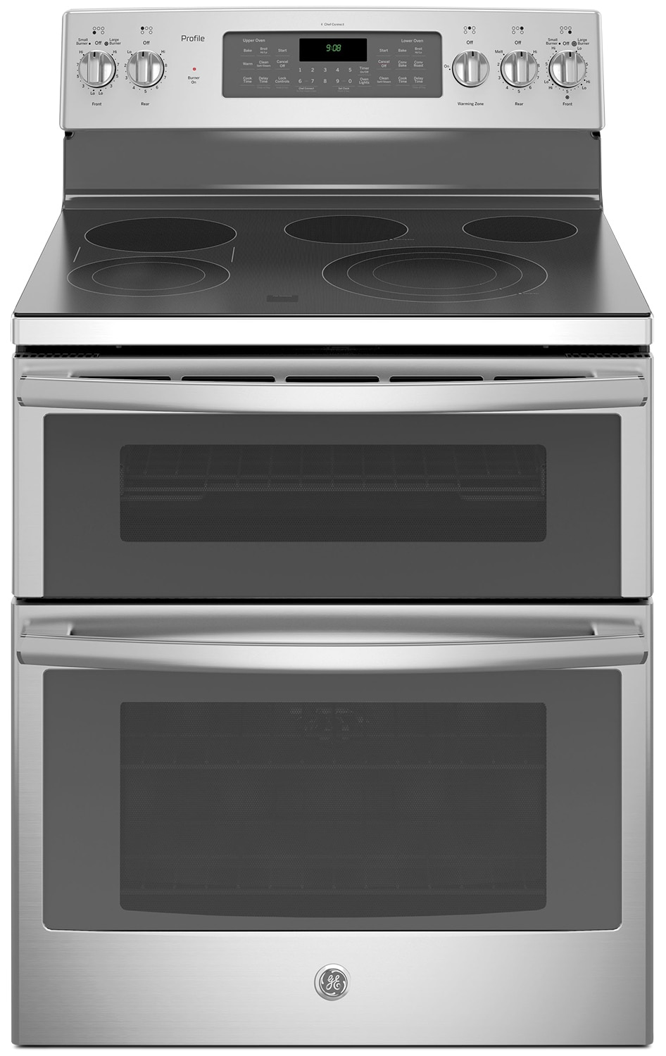 GE 6.6 Cu. Ft. Freestanding Double Oven Self-Cleaning Convection Range – PCB980SJSS