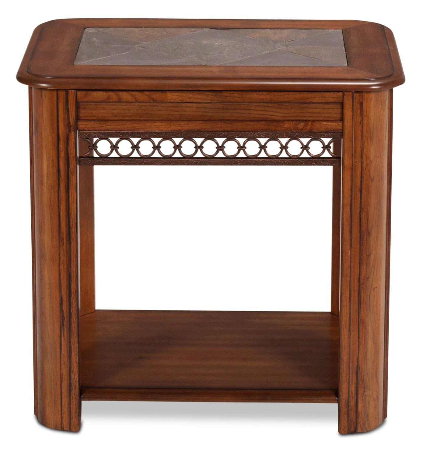 Madison Chairside Table - Oak