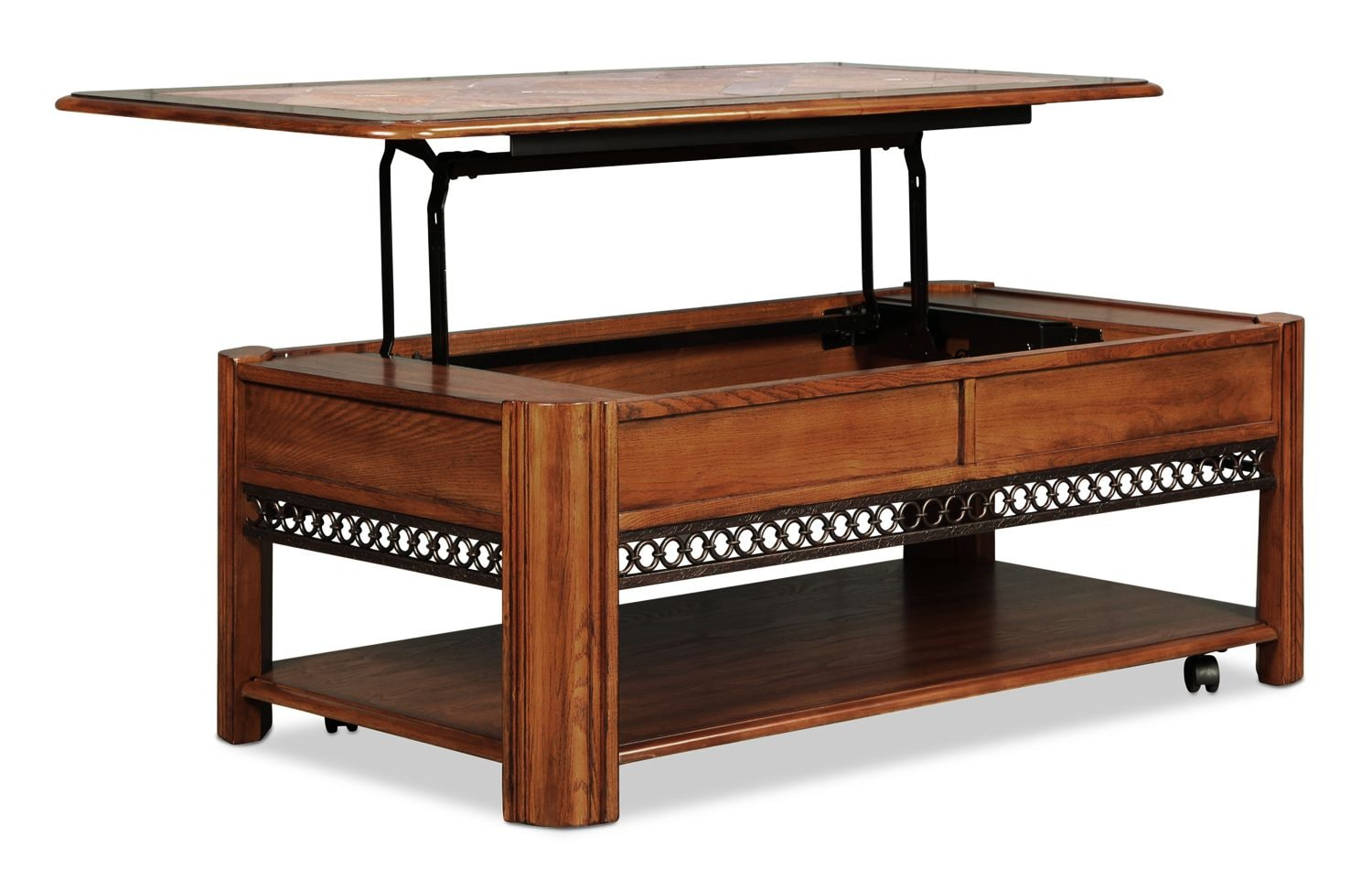 Madison Lift Top Coffee Table Oak Levin Furniture