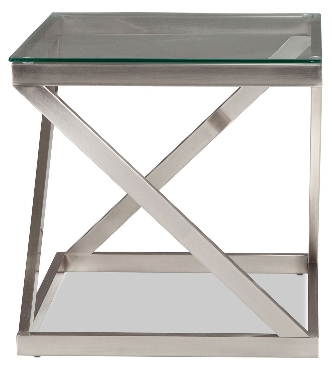 La Vista End Table - Brushed Nickel