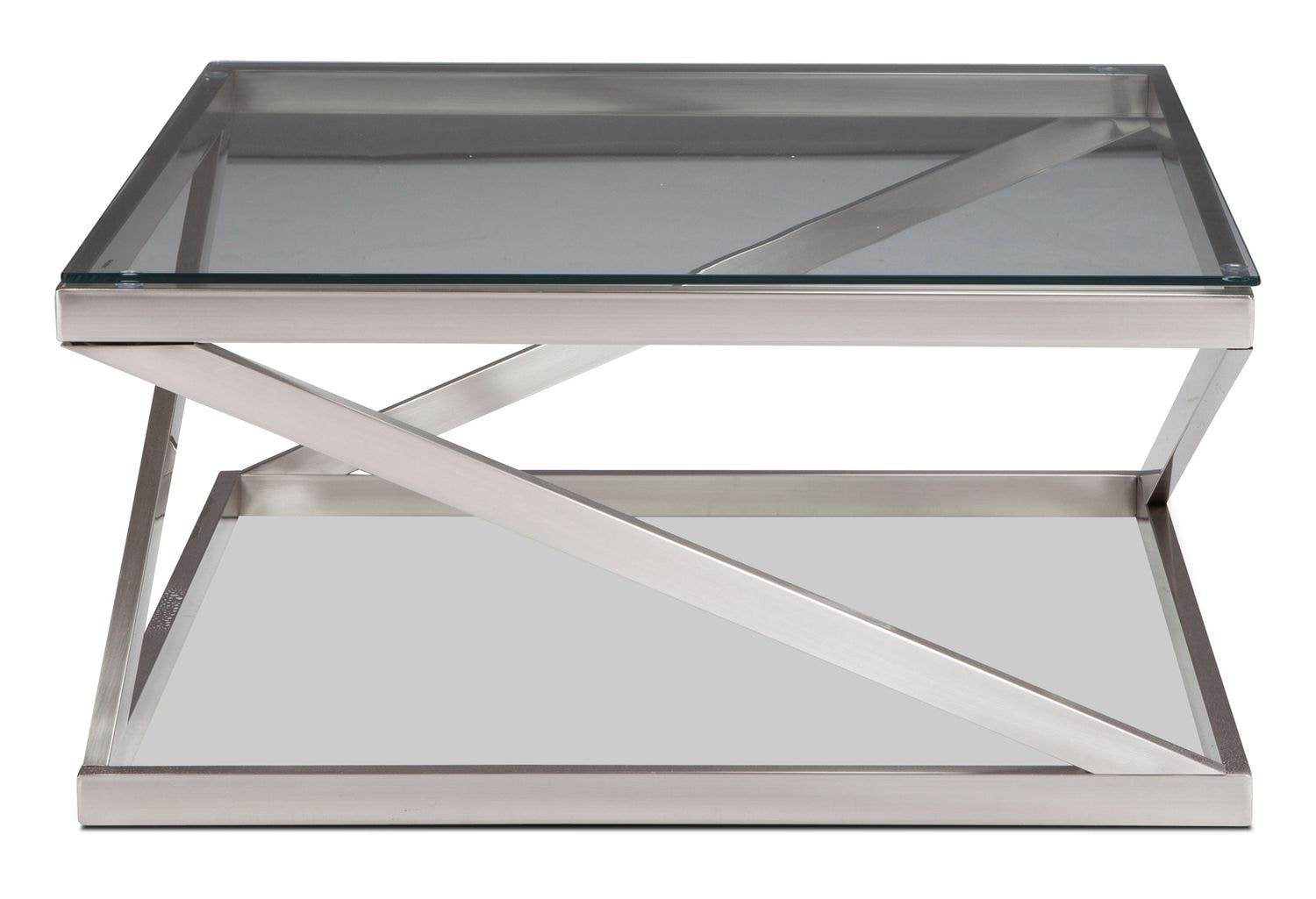 La Vista Coffee Table - Brushed Nickel