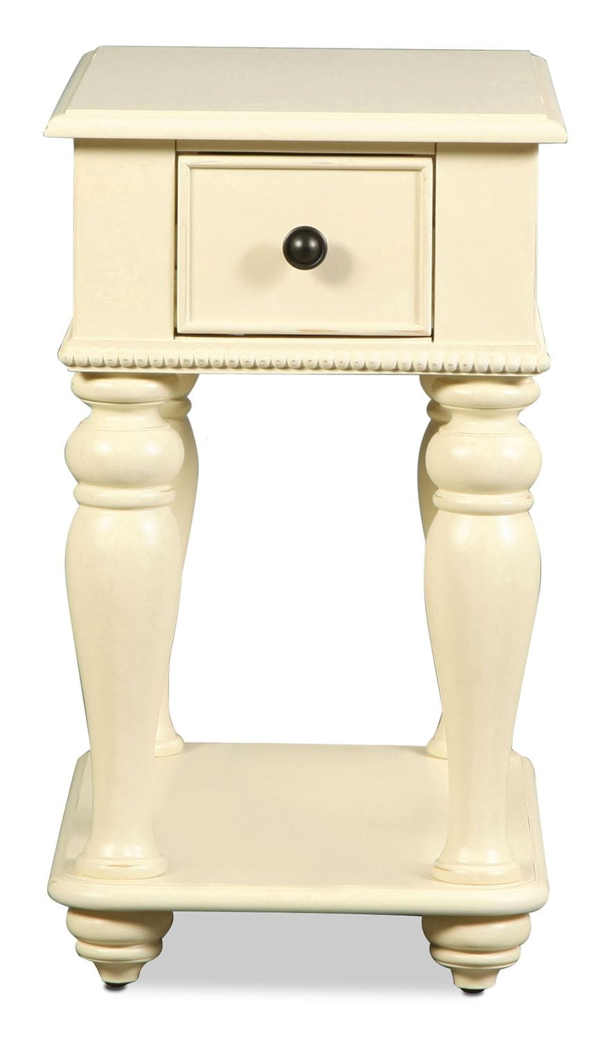 Accent and Occasional Furniture - Laurelhurst Chairside Table - White