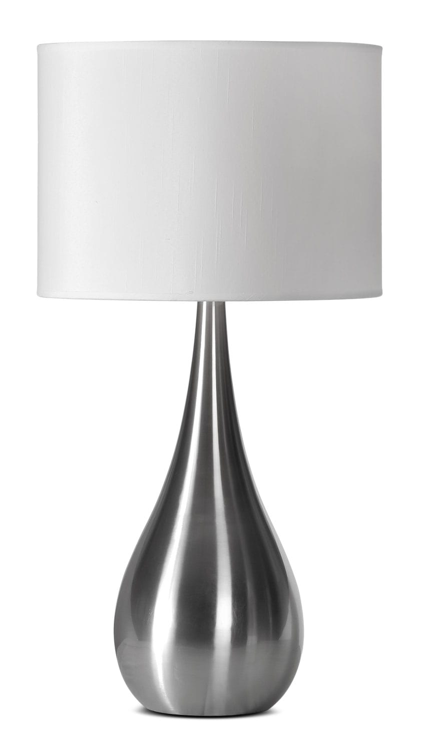 "Accent and Occasional Furniture - Aspen 26"" Table Lamp - Stainless Steel"