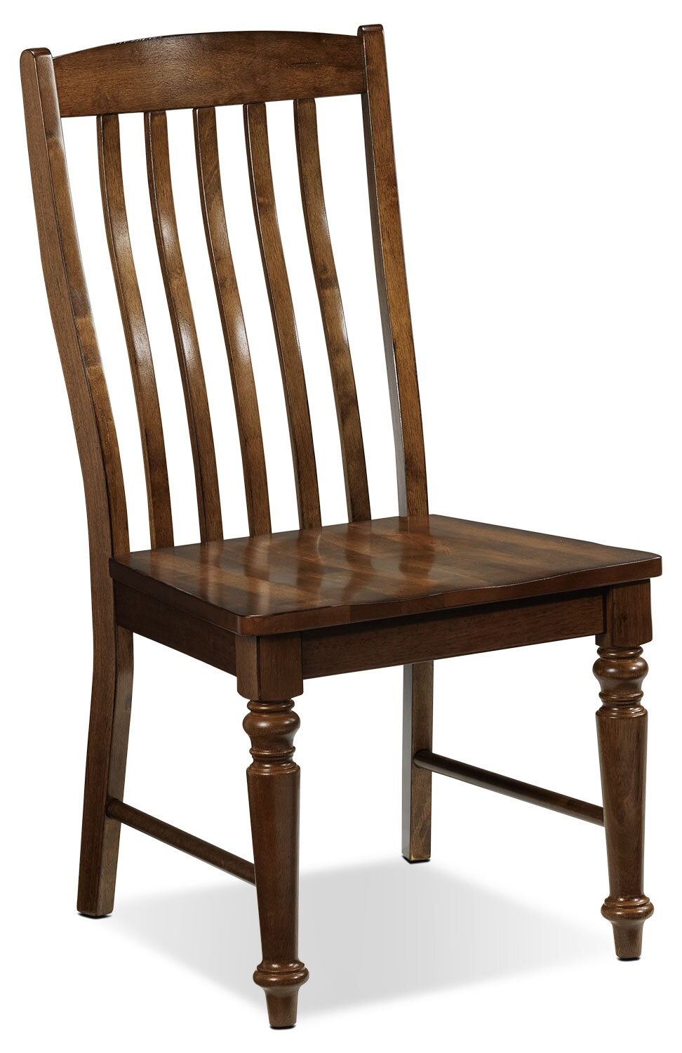 Dining Room Furniture - Charles Side Chair - Brown Walnut