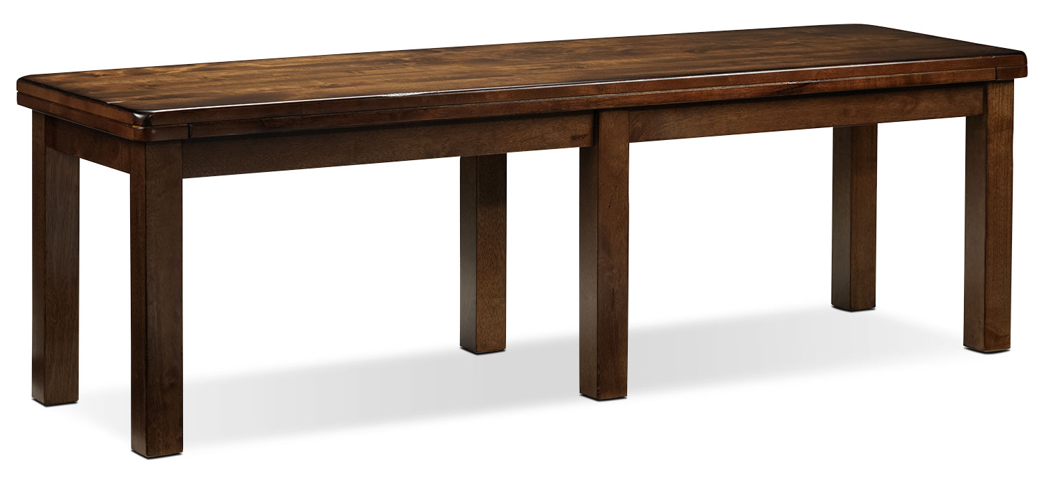 Dining Room Furniture - Charles Bench - Brown Walnut