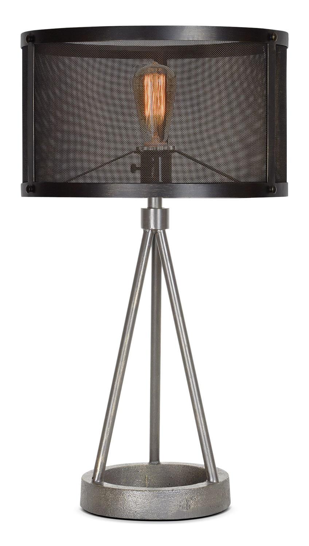 "Brooklyn 27"" Table Lamp - Black Steel"