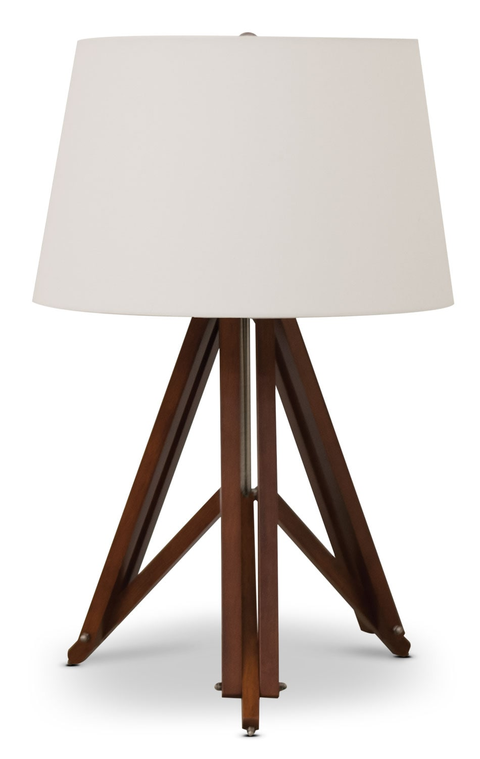 "Accent and Occasional Furniture - Denver 25.5"" Table Lamp - Espresso"