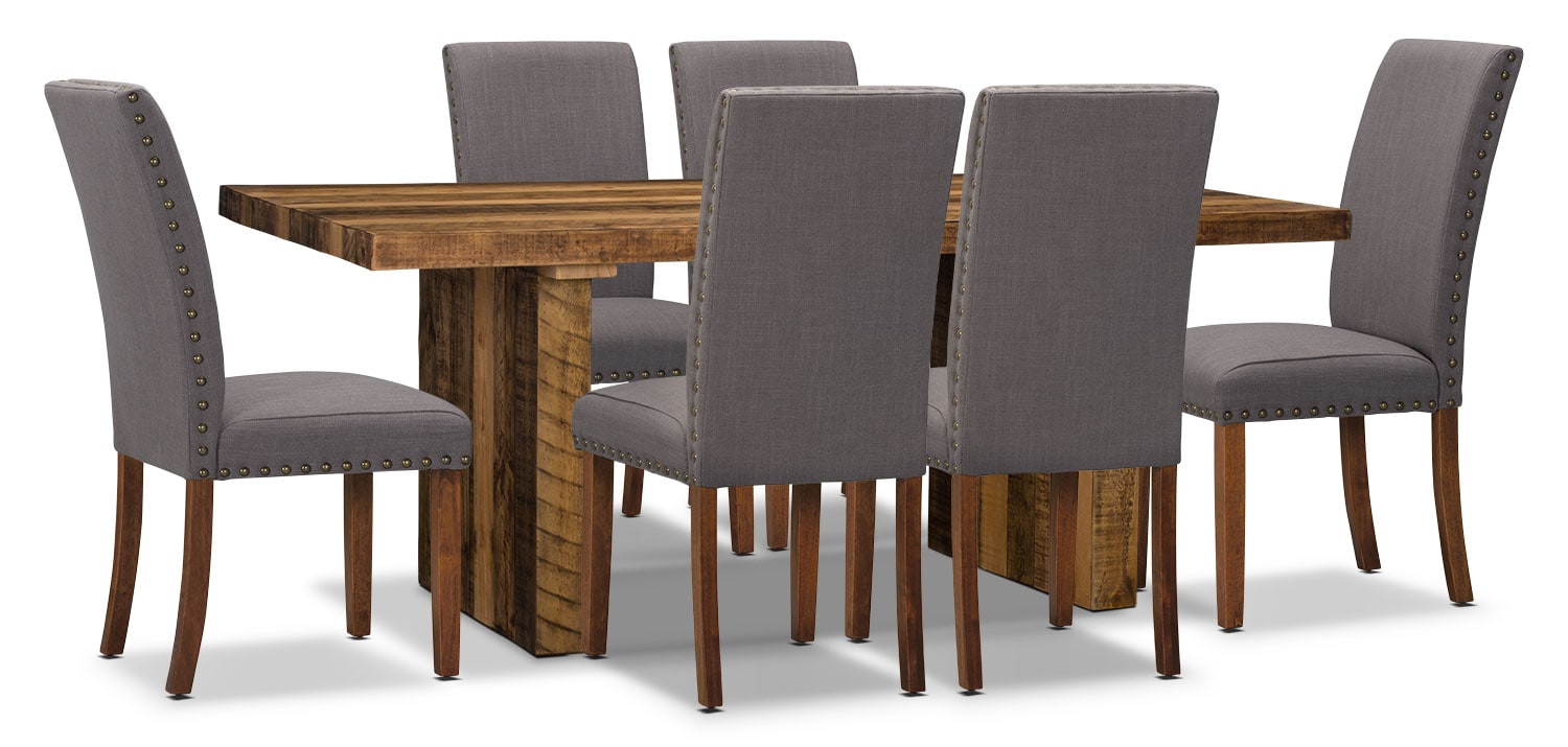Dining Room Furniture - Colby 7-Piece Dining Package with Mindy Chairs
