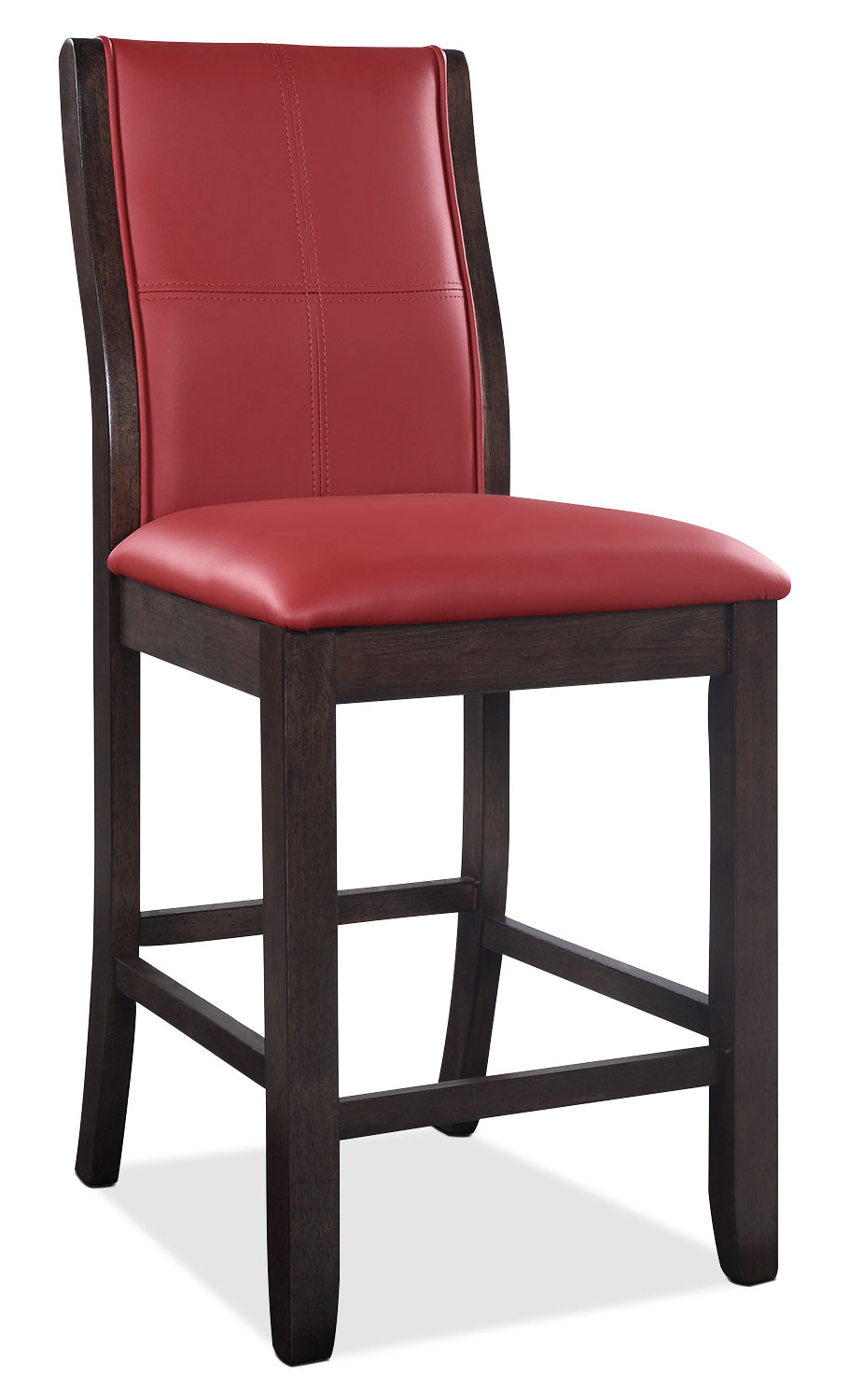 Tyler Counter-Height Dining Chair – Red