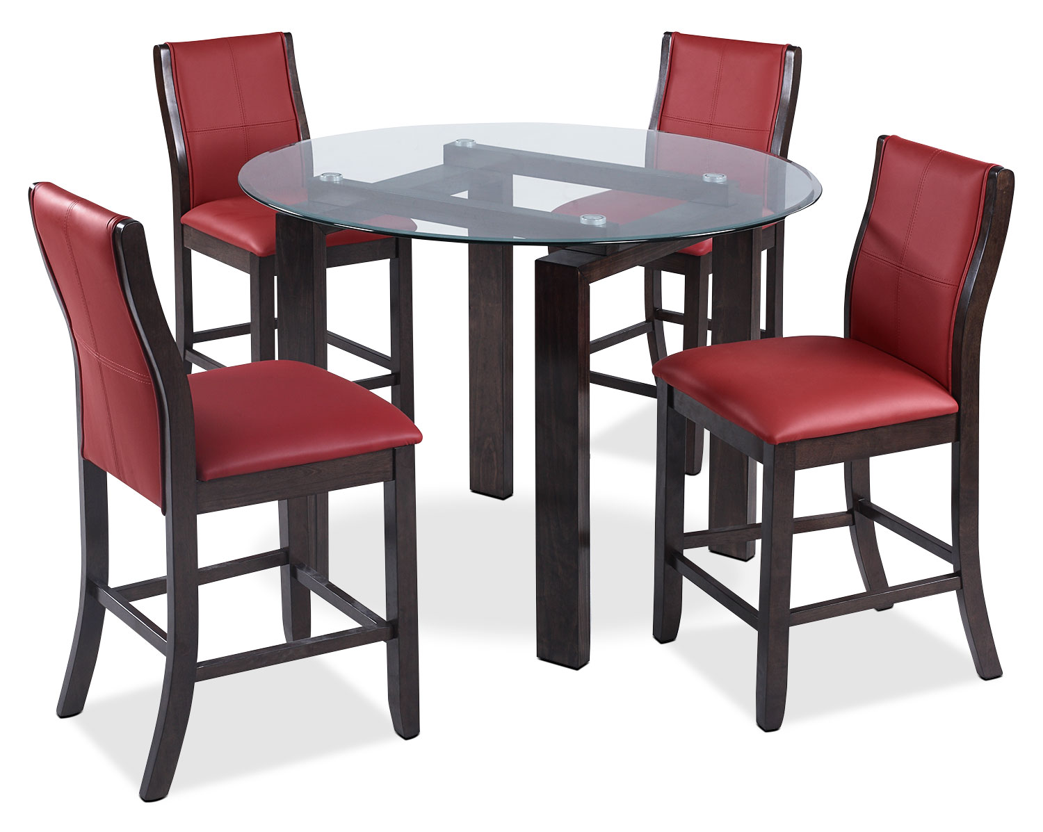 Tyler 5-Piece Dining Package – Red