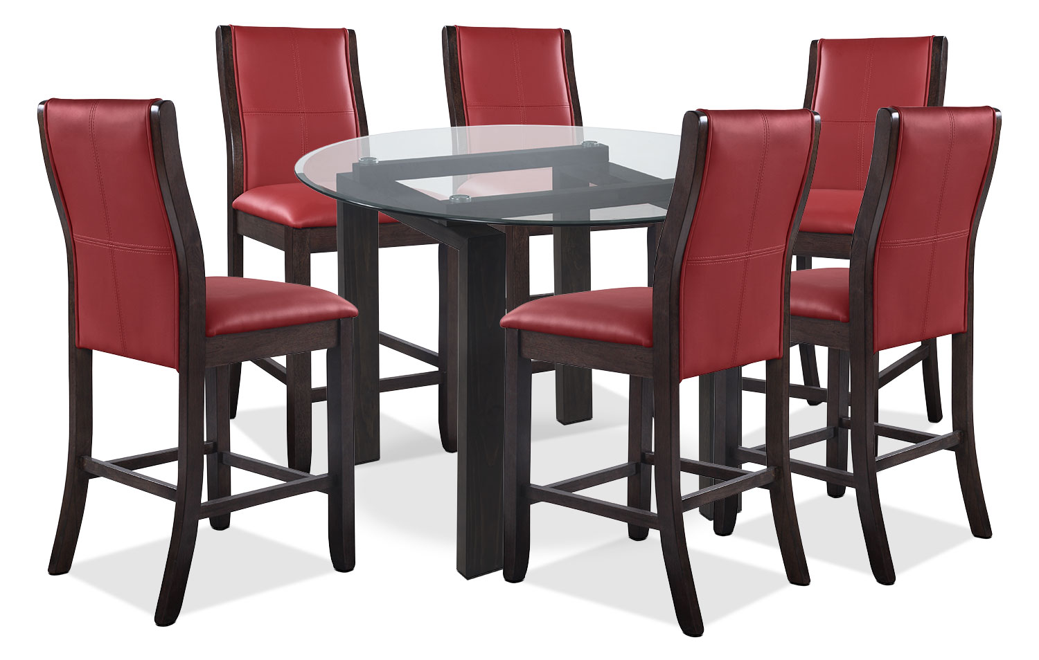 Dining Room Furniture - Tyler 7-Piece Dining Package – Red