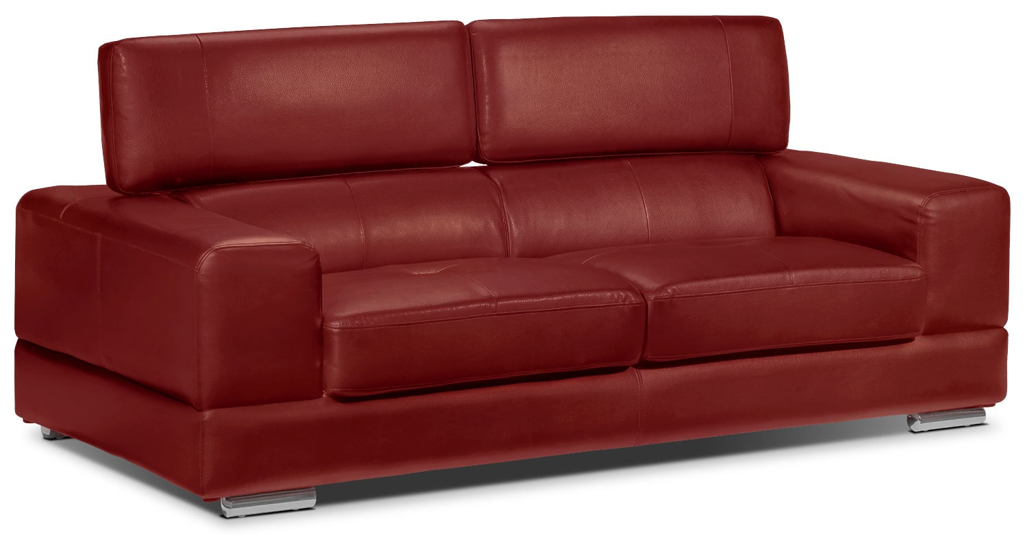 Living Room Furniture - Driscoll Sofa - Red