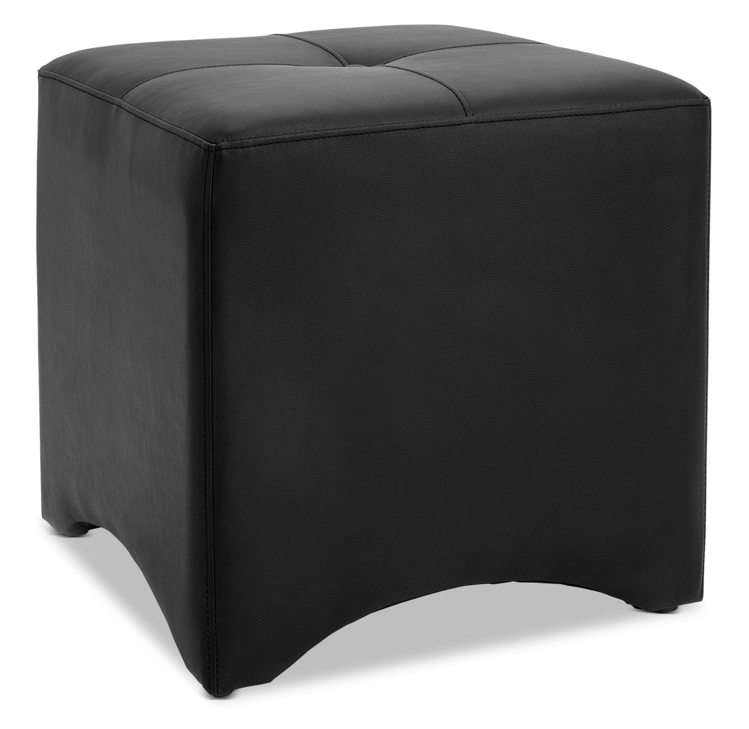 Accent and Occasional Furniture - Briel Ottoman – Black