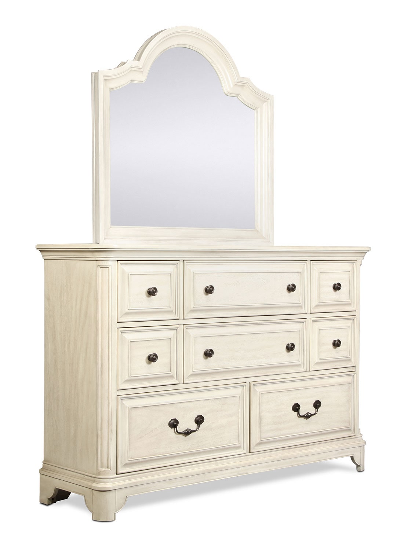 Windsor Lane 4 Piece King Bedroom Set White Levin