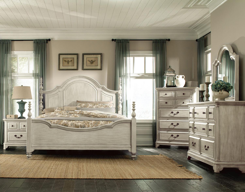 windsor lane 4piece king bedroom set  white  levin
