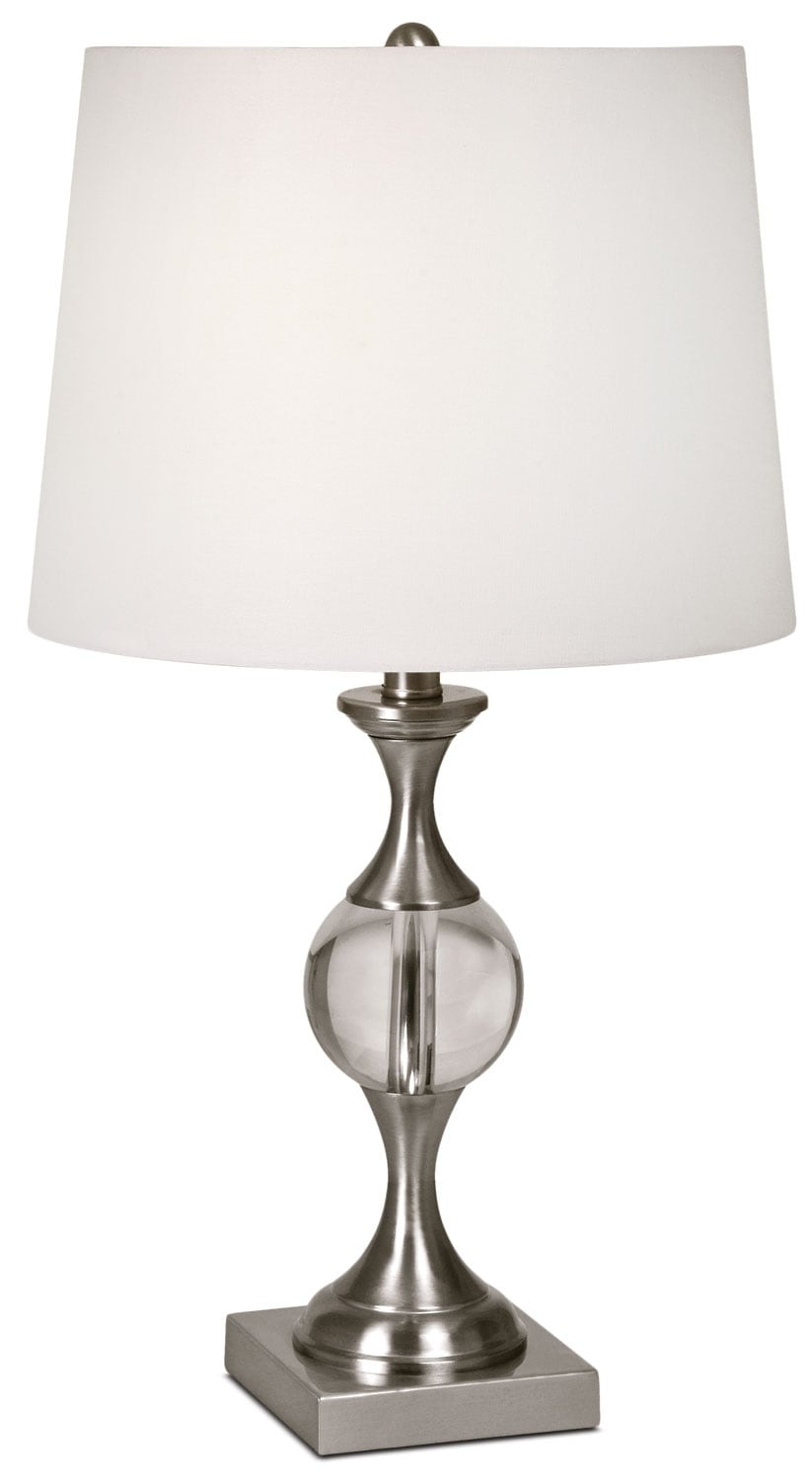 "Accent and Occasional Furniture - Amari 25"" Table Lamp - Nickel"