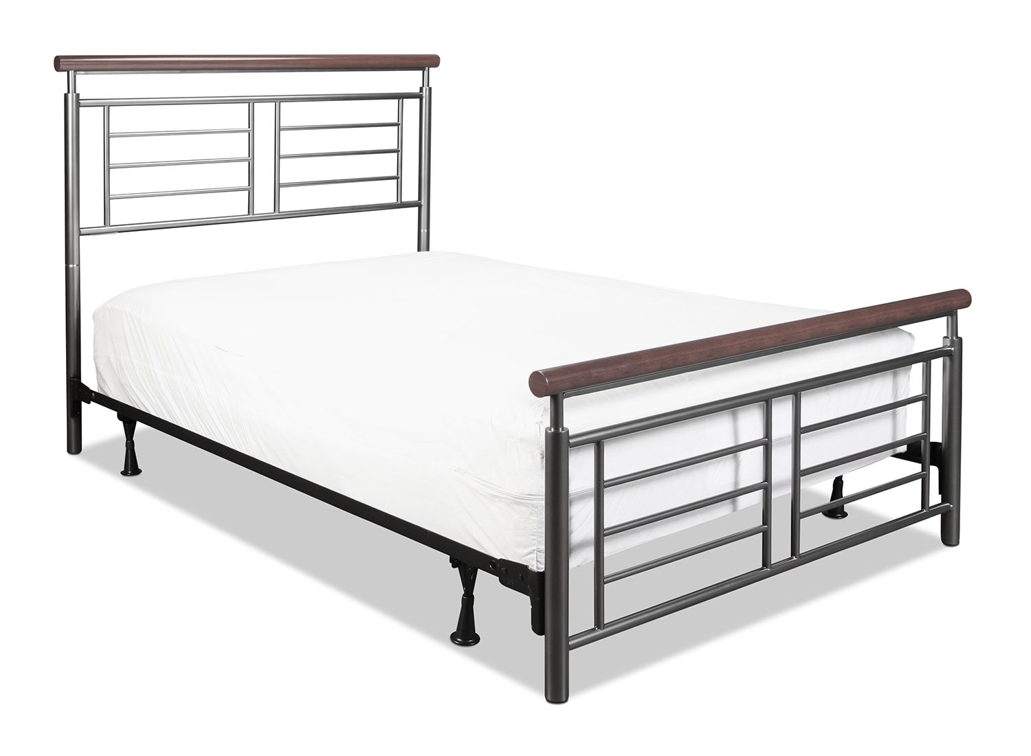 Fontaine Full Bed - Silver and Cherry
