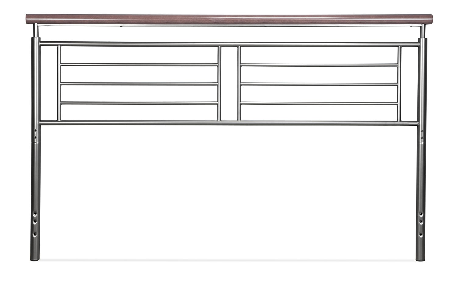 Bedroom Furniture - Fontaine King Headboard - Silver and Cherry