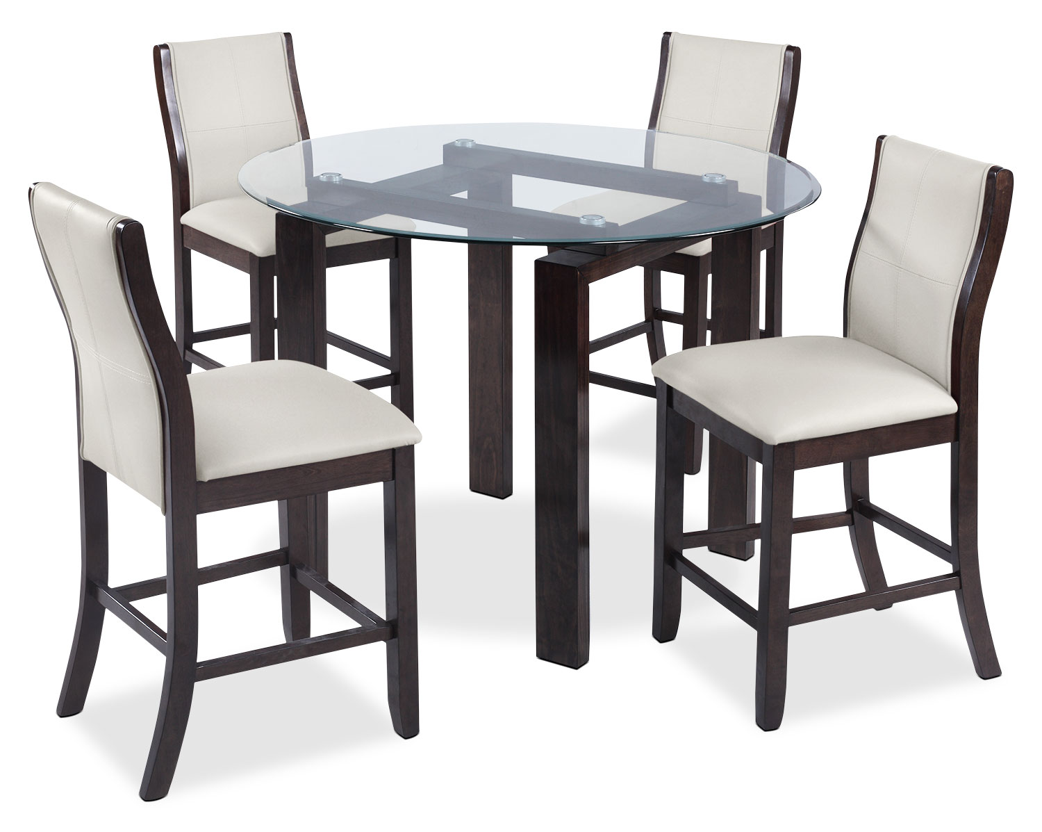 Dining Room Furniture - Tyler 5-Piece Dining Package – Taupe