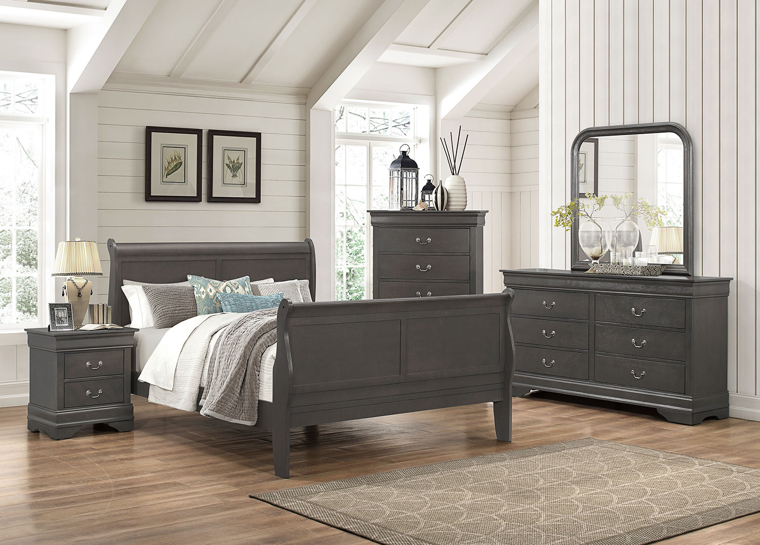 lyla 5 piece queen bedroom package grey the brick