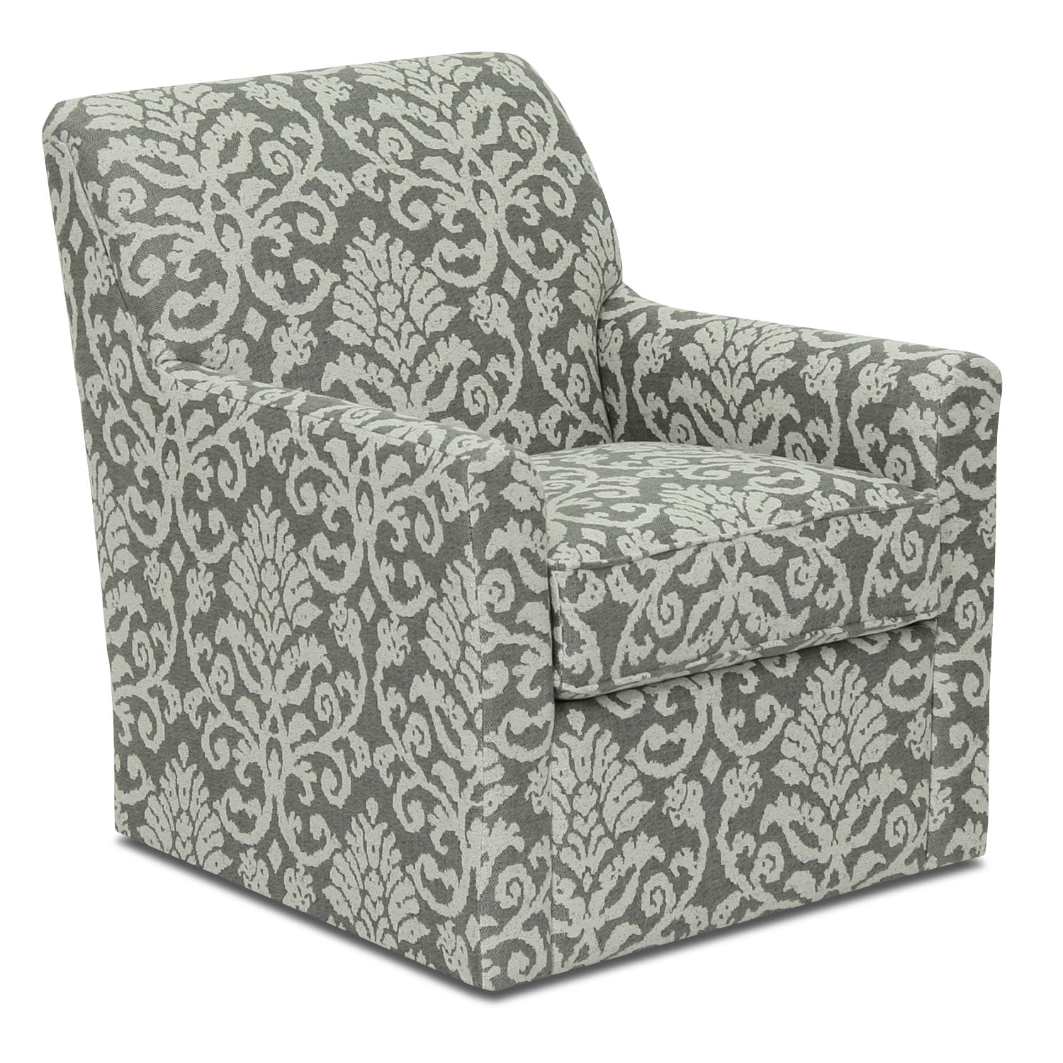 Living Room Furniture - Designed2B Fabric Accent Swivel Chair – Linen