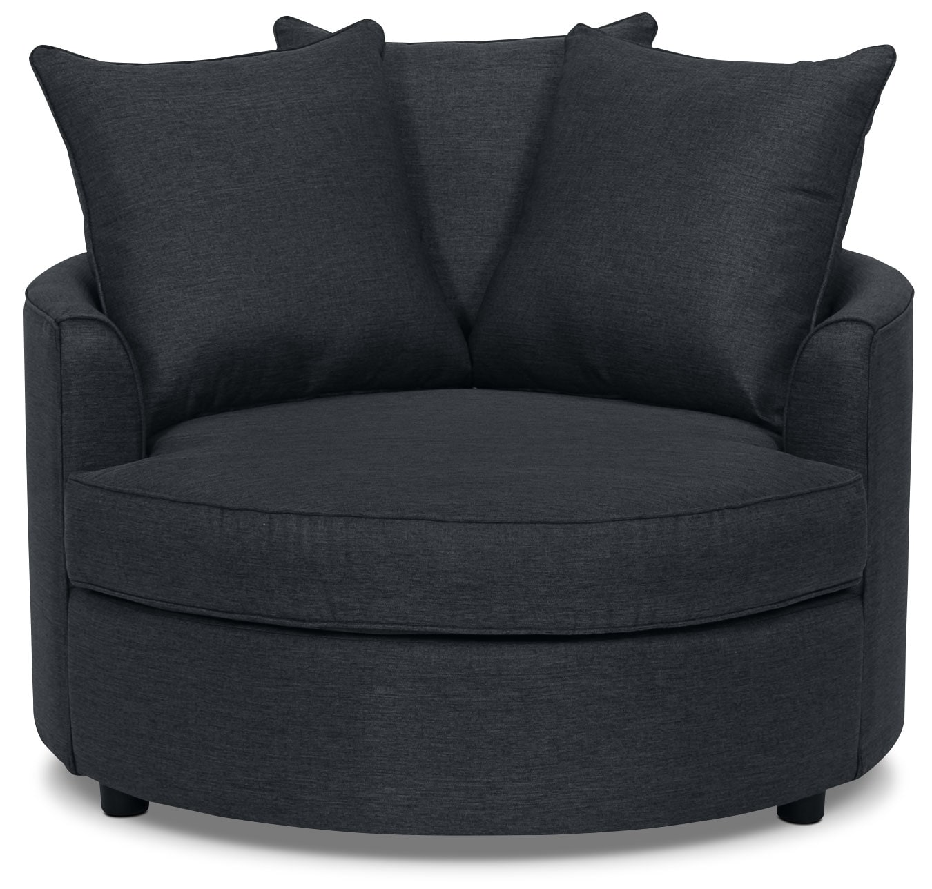 Living Room Furniture - Designed2B Chenille Accent Nesting Chair – Lavish Onyx