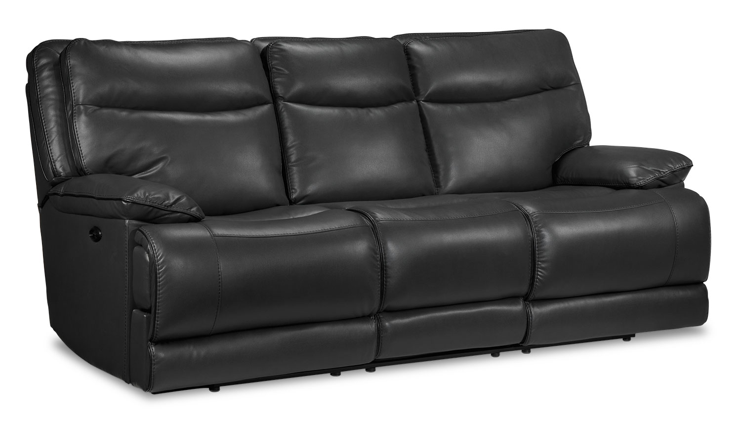 Lanette Power Reclining Sofa - Smoke Grey