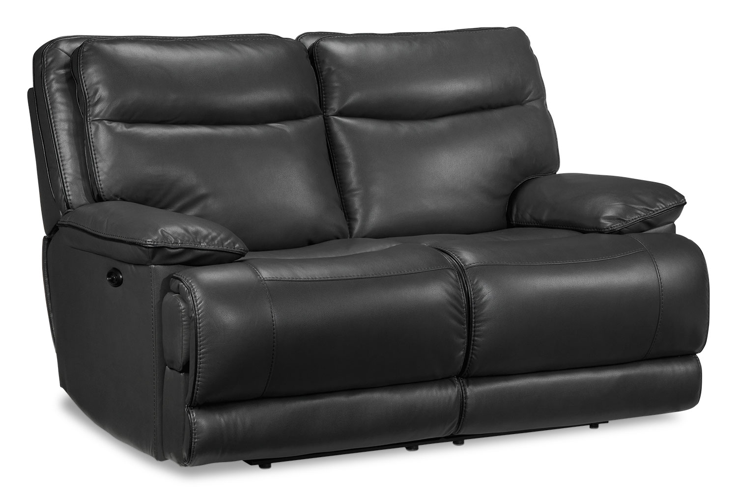 Lanette Power Reclining Loveseat - Smoke Grey