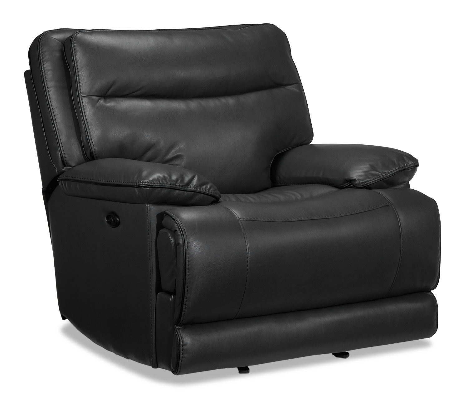 Living Room Furniture - Lanette Power Recliner - Smoke Grey