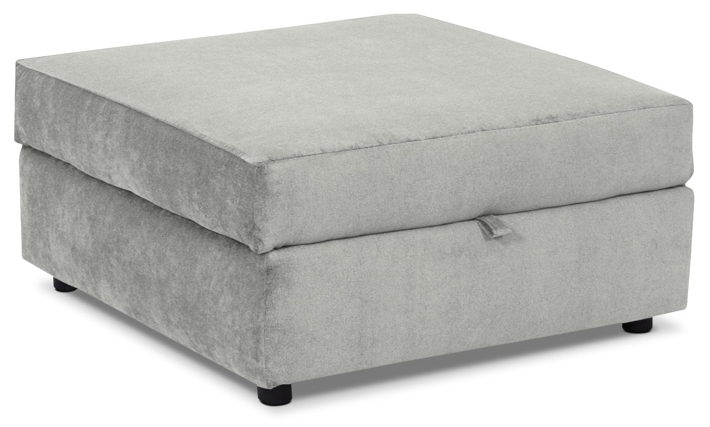 Living Room Furniture - Designed2B Chenille Accent Square Storage Ottoman – Lavish Grey