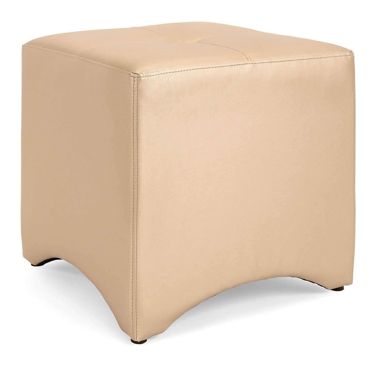 Accent and Occasional Furniture - Lux Ottoman – Champagne